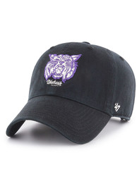 K-State Wildcats 47 Clean Up Adjustable Hat - Black