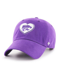 47 K-State Wildcats Womens Purple Courtney W Clean Up Adjustable Hat