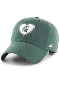 47 Michigan State Spartans Womens Green Courtney W Clean Up Adjustable Hat