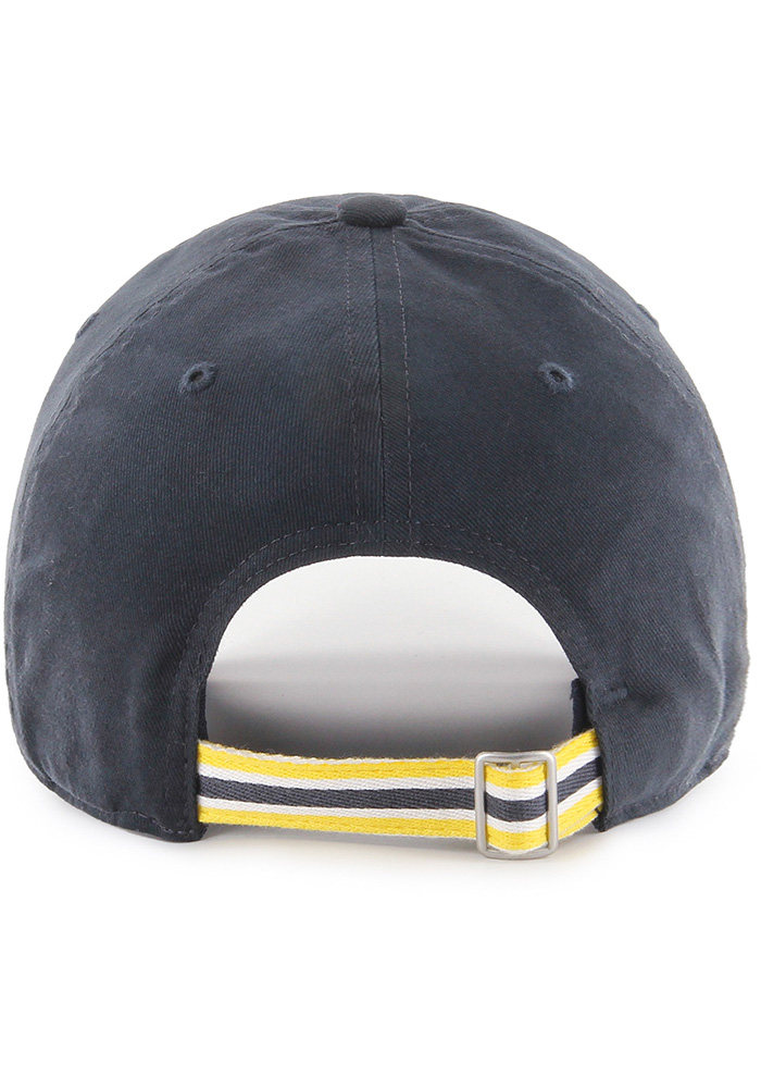 '47 Michigan Wolverines Navy Blue Courtney W Clean Up Womens Adjustable Hat - Image 2