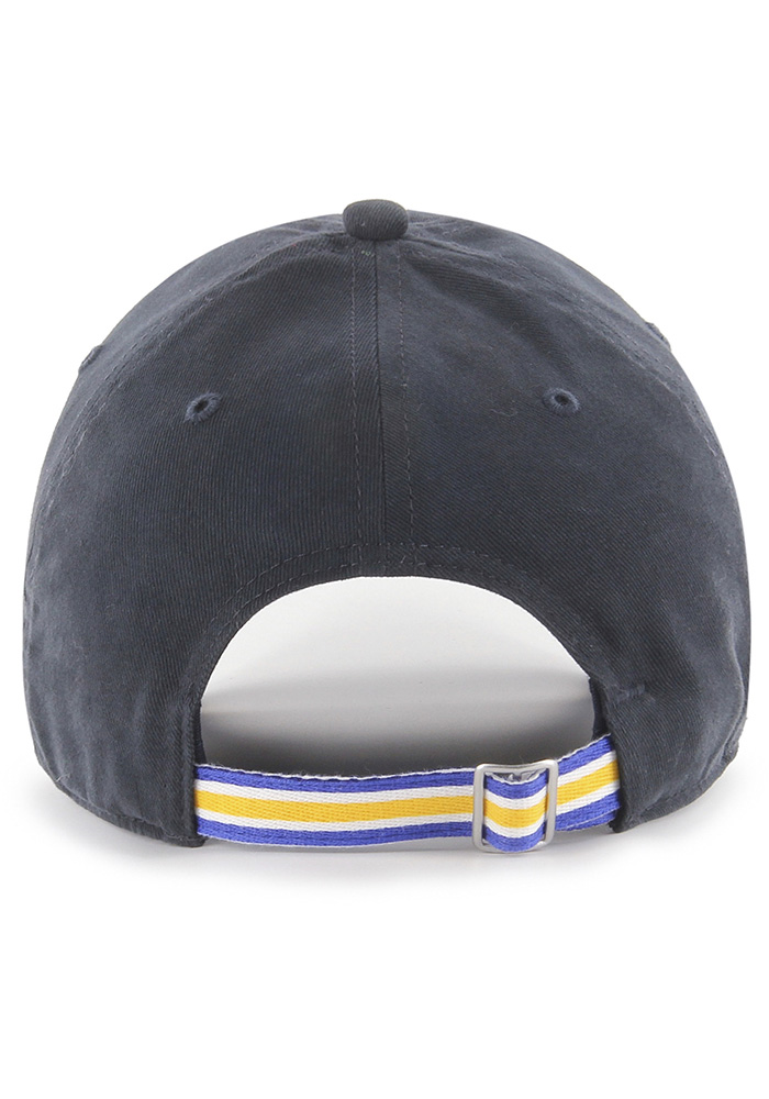 '47 St Louis Blues Navy Blue Courtney W Clean Up Womens Adjustable Hat - Image 2