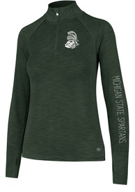 47 Michigan State Spartans Womens Shade Green 1/4 Zip Pullover