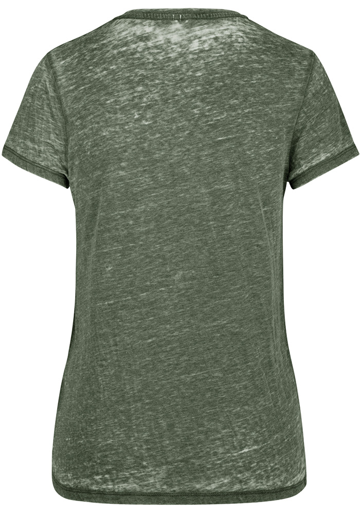47 Michigan State Spartans Womens Green Fade Out Short Sleeve T-Shirt - Image 2