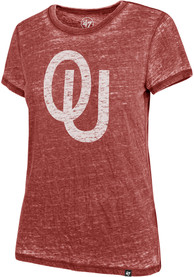 Oklahoma Sooners Womens 47 Fade Out T-Shirt - Crimson
