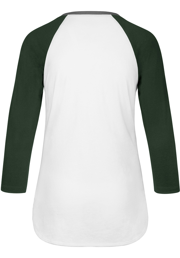 47 Michigan State Spartans Womens White Splitter LS Tee - Image 2