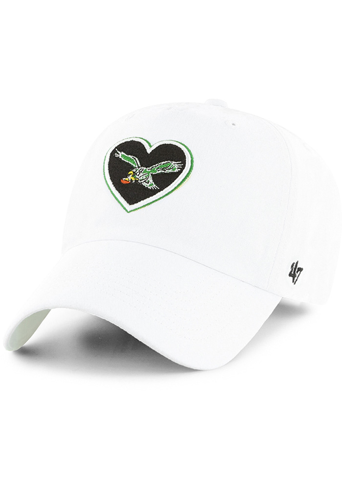 '47 Philadelphia Eagles White Courtney Clean Up Womens Adjustable Hat - Image 1