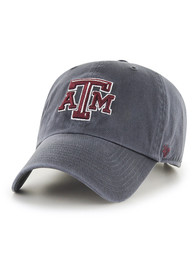 47 Texas A&M Aggies Charcoal Clean Up Youth Adjustable Hat