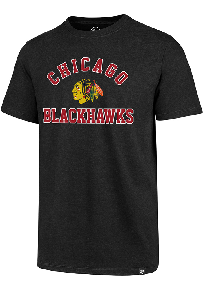 Chicago Blackhawks 47 Varsity Arch T Shirt - Black