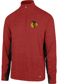 47 Chicago Blackhawks Red Microlite Shade 1/4 Zip Pullover