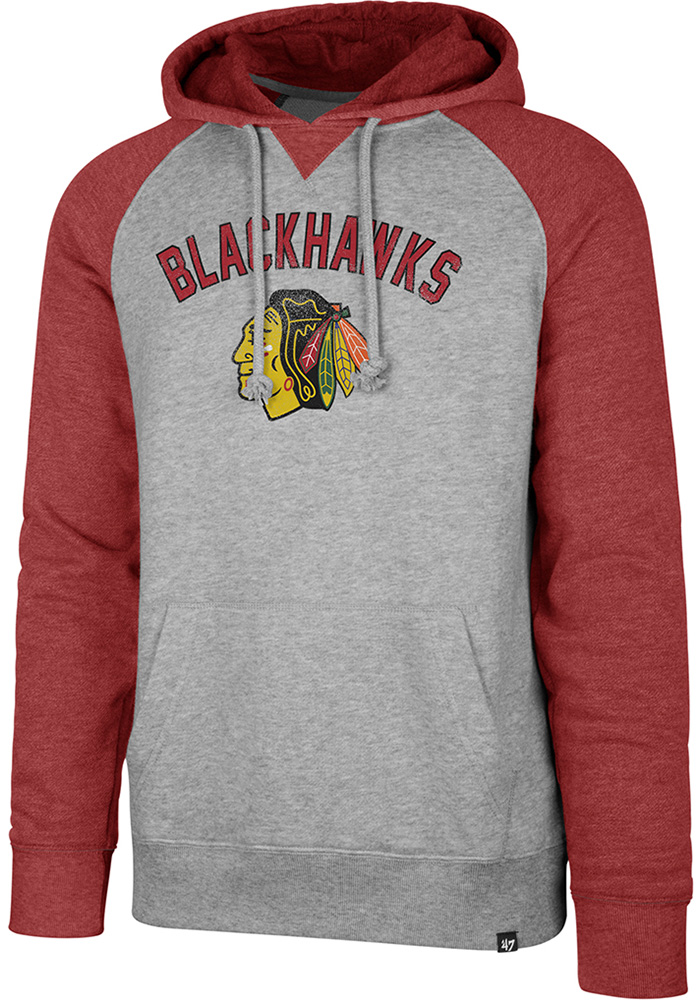47 Chicago Blackhawks Mens Grey Match Fashion Hood - Image 1