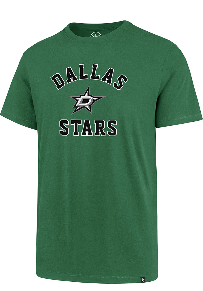 Dallas Stars 47 Varsity Arch T Shirt - Kelly Green