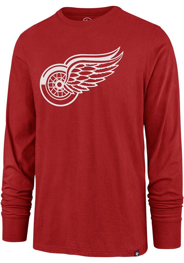 47 Detroit Red Wings Red Imprint Long Sleeve T Shirt 48002114