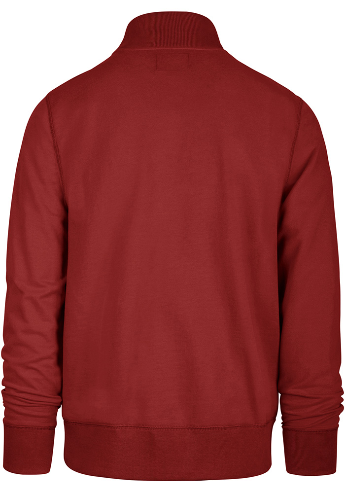 '47 Detroit Red Wings Mens Red Striker Long Sleeve 1/4 Zip Fashion Pullover - Image 2