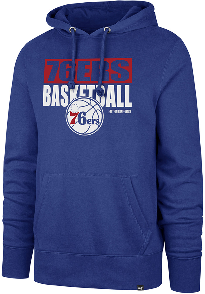 cheap for discount 61513 79718 '47 Philadelphia 76ers Mens Blue Blockout Long Sleeve Hoodie