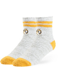 47 Missouri Tigers Womens Grey Balmy Fuzzy Quarter Socks