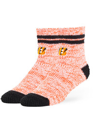 47 Cincinnati Bengals Womens Orange Balmy Fuzzy Quarter Socks