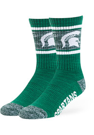 47 Michigan State Spartans Mens Green Duster Free Crew Socks