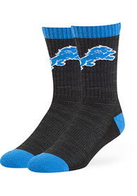 47 Detroit Lions Mens Black Noble Crew Socks