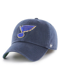 St Louis Blues 47 Franchise Fitted Hat - Navy Blue