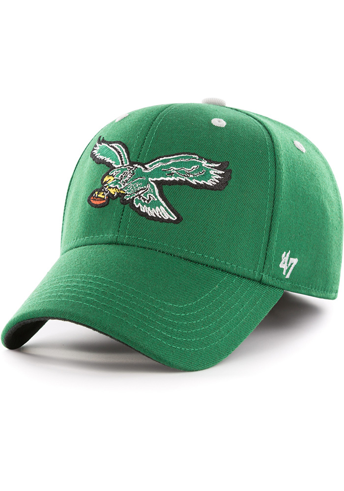 '47 Philadelphia Eagles Mens Kelly Green Kickoff Contender Flex Hat - Image 1