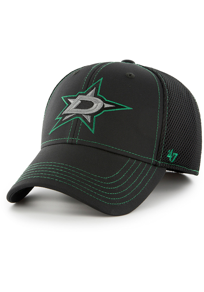 47 Dallas Stars Mens Black Stonaut Contender Flex Hat - Image 1