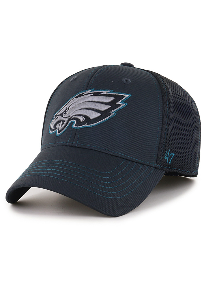 47 Philadelphia Eagles Mens Black Stonaut Contender Flex Hat - Image 1