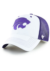47 K-State Wildcats White Lowdown Contender Flex Hat