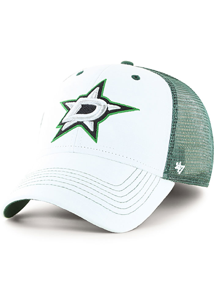 '47 Dallas Stars Mens White Lowdown Contender Flex Hat - Image 1