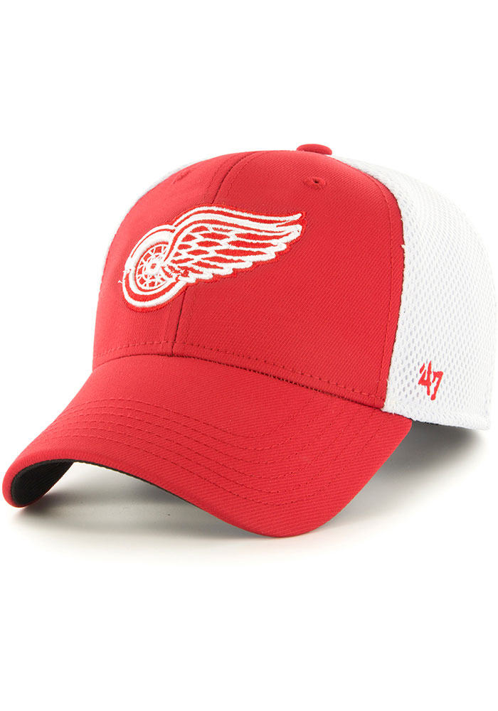 '47 Detroit Red Wings Mens Red Offense Contender Flex Hat - Image 1