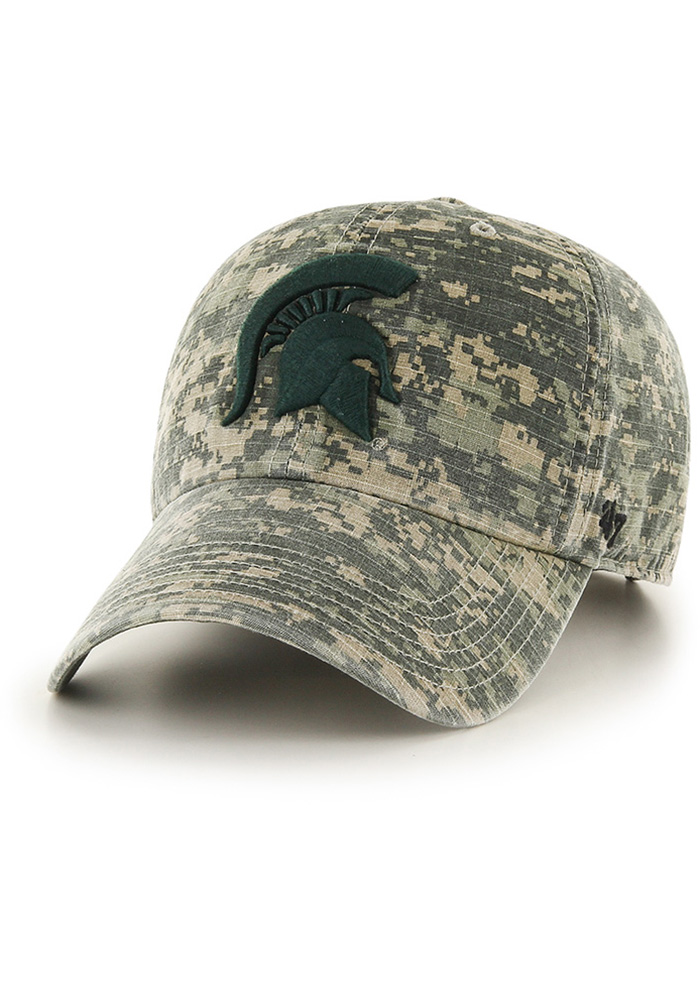 47 Michigan State Spartans OHT Nilan Clean Up Adjustable Hat - Green - Image 1