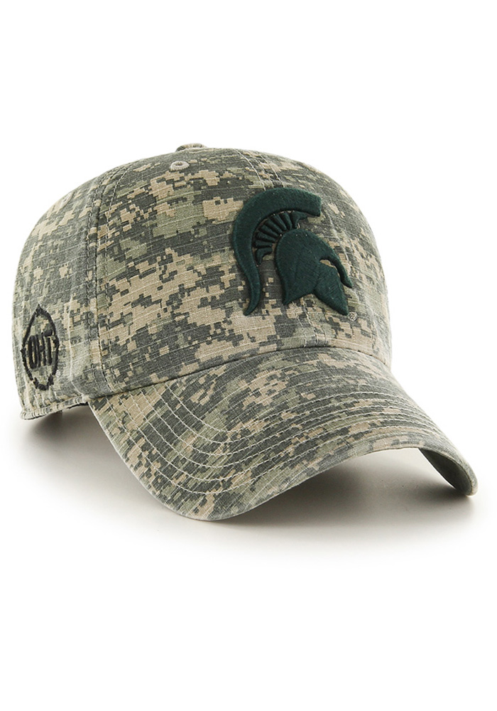47 Michigan State Spartans OHT Nilan Clean Up Adjustable Hat - Green - Image 2