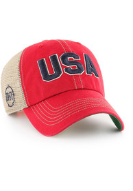 47 Team USA OHT Trawler Clean Up Adjustable Hat - Red