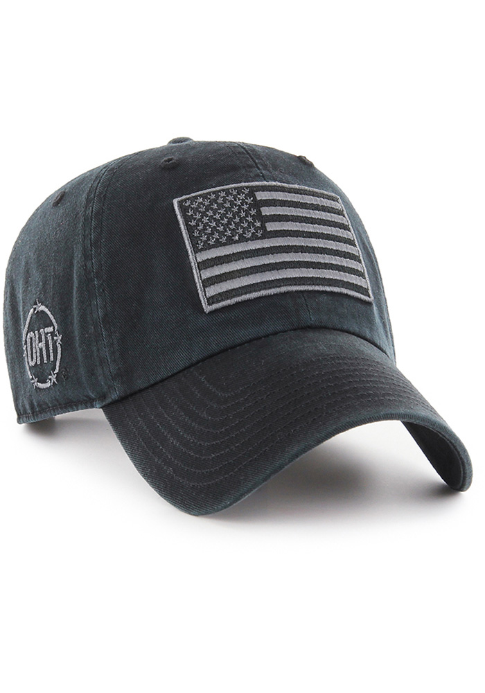 '47 Team USA Mens Black OHT Clean Up Adjustable Hat - Image 1