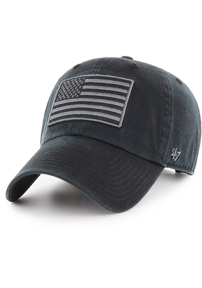 '47 Team USA Mens Black OHT Clean Up Adjustable Hat - Image 2