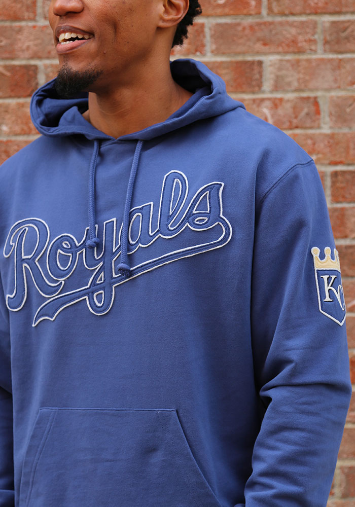 '47 Kansas City Royals Mens Blue Striker Fashion Hood - Image 3