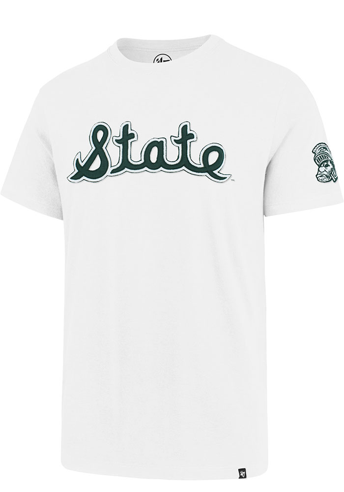 47 Michigan State Spartans White Fieldhouse Short Sleeve Fashion T Shirt - Image 1