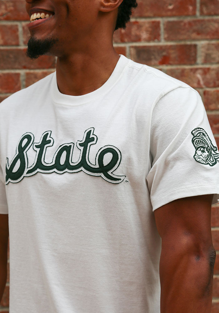 47 Michigan State Spartans White Fieldhouse Short Sleeve Fashion T Shirt - Image 3