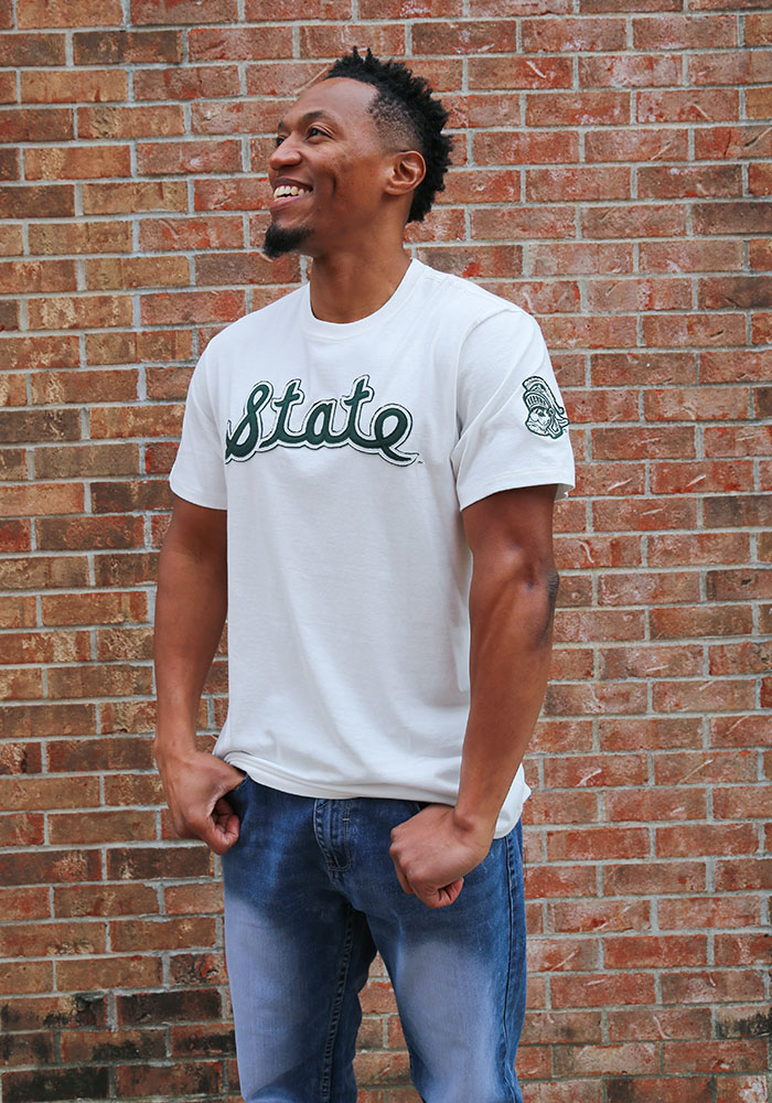 47 Michigan State Spartans White Fieldhouse Short Sleeve Fashion T Shirt - Image 4