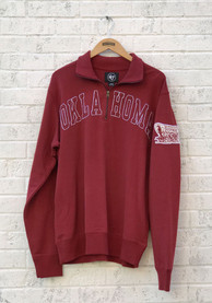 47 Oklahoma Sooners Crimson Striker 1/4 Zip Fashion Pullover