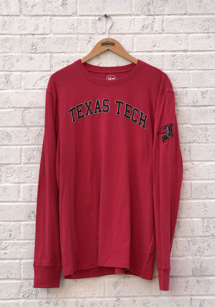 '47 Texas Tech Red Raiders Red Fieldhouse Long Sleeve Fashion T Shirt - Image 1