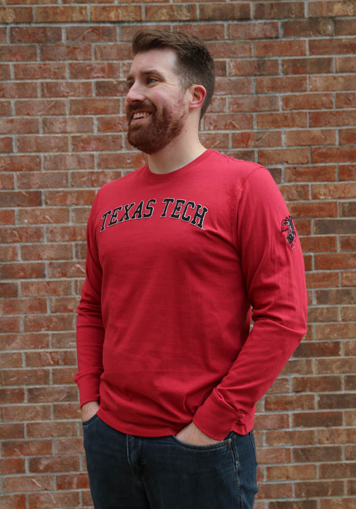 '47 Texas Tech Red Raiders Red Fieldhouse Long Sleeve Fashion T Shirt - Image 2
