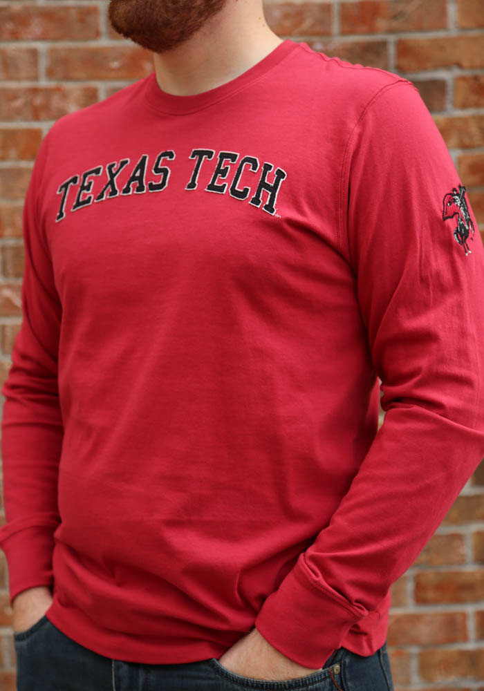 '47 Texas Tech Red Raiders Red Fieldhouse Long Sleeve Fashion T Shirt - Image 3
