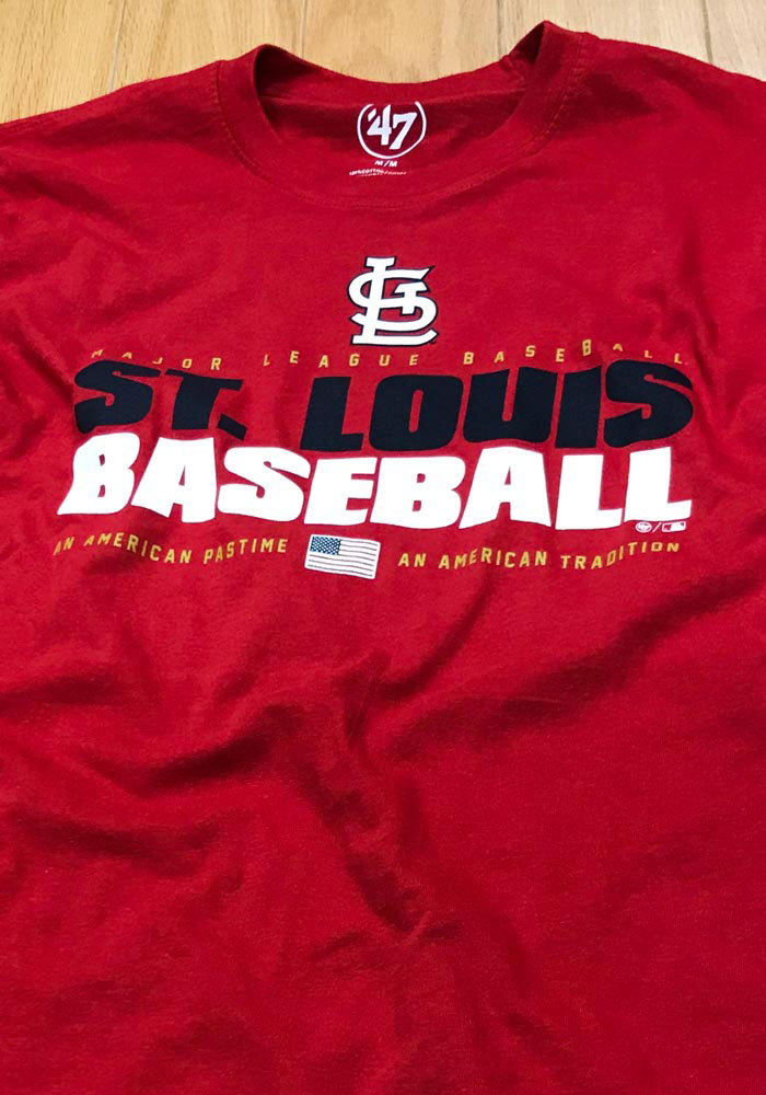 '47 St Louis Cardinals Red Super Rival LS Long Sleeve T Shirt - Image 2