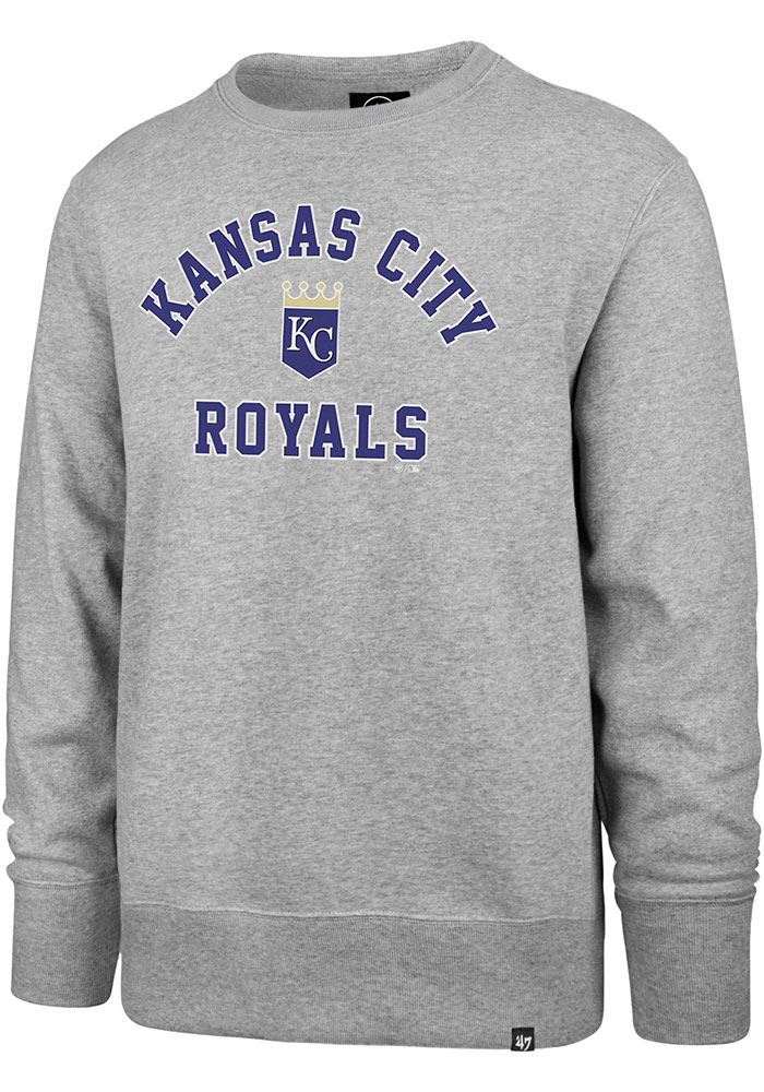 '47 Kansas City Royals Mens Grey Headline Crew Long Sleeve Fashion Sweatshirt - Image 1