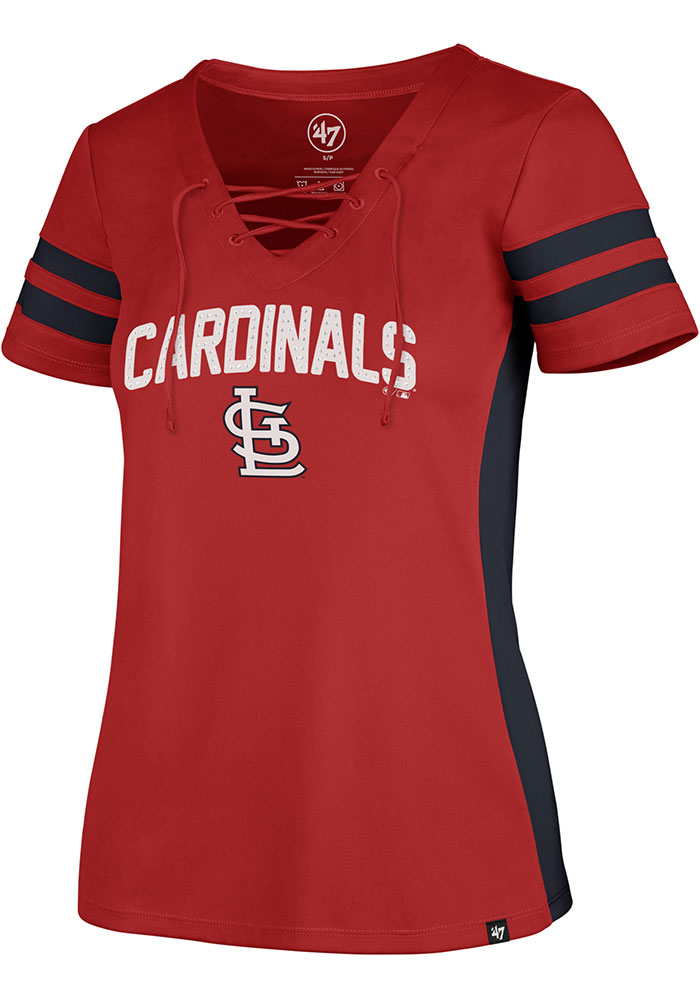 St Louis Cardinals Womens '47 Turnover Fashion Baseball Jersey - Red - Image 1