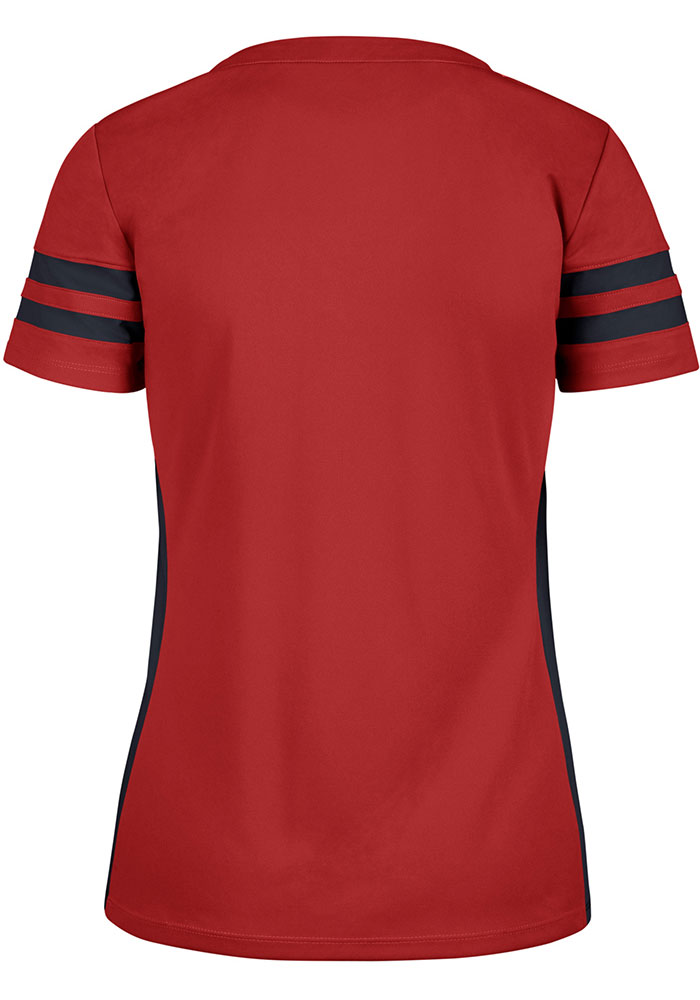 St Louis Cardinals Womens '47 Turnover Fashion Baseball Jersey - Red - Image 2