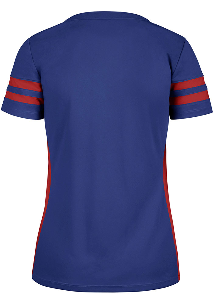 Texas Rangers Womens '47 Turnover Fashion Baseball Jersey - Blue - Image 2
