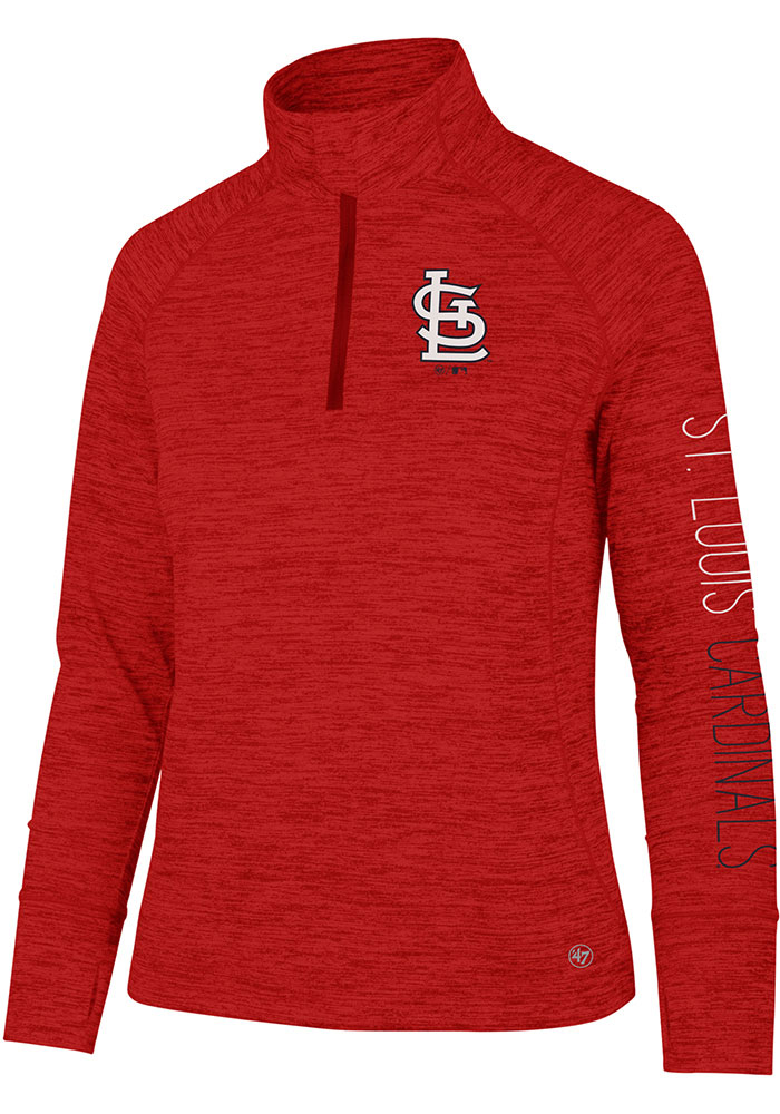 '47 STL Cardinals Womens Red Impact 1/4 Zip Pullover - Image 1