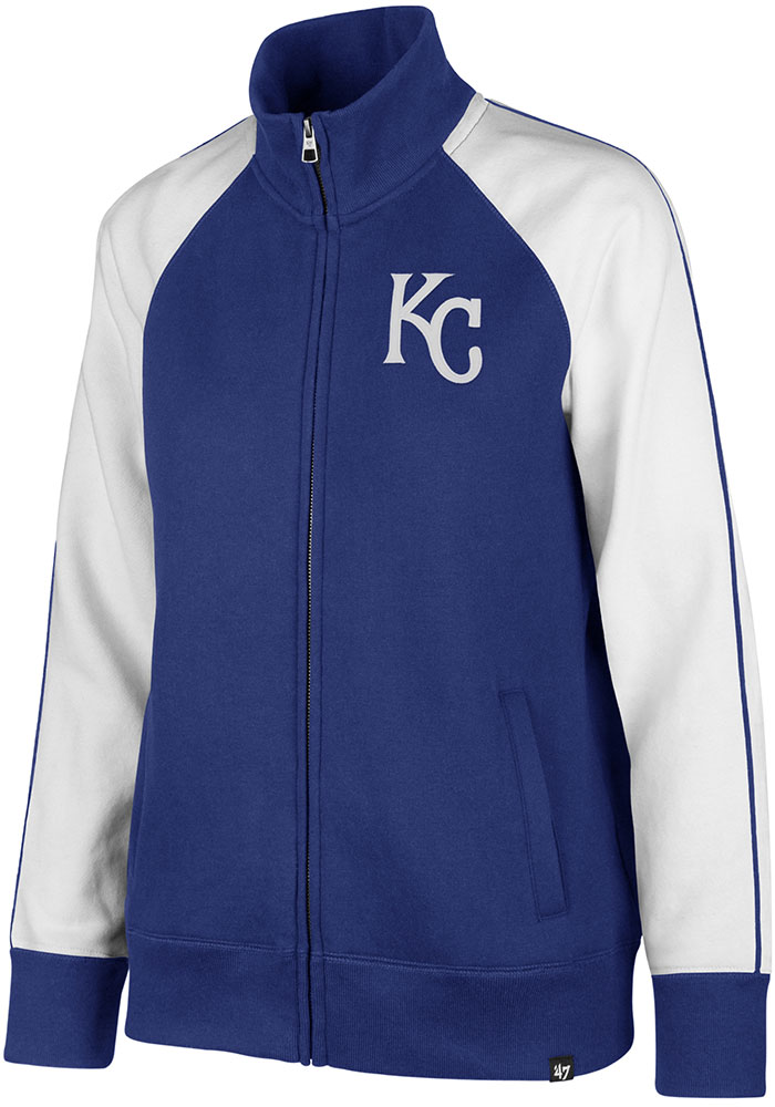 '47 Kansas City Royals Womens Blue Headline Long Sleeve Track Jacket - Image 1