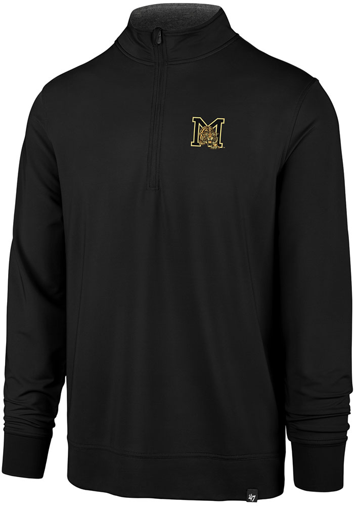 '47 Missouri Tigers Black Relay 1/4 Zip Pullover